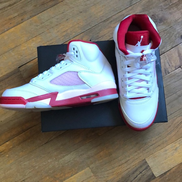 Air Jordan Retro 5 Pink Foam size 5.5 youth